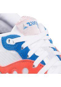 Białe buty sportowe Saucony na co dzień, z cholewką