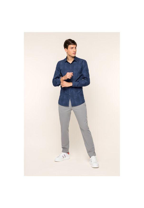 Niebieska koszula casual Karl Lagerfeld