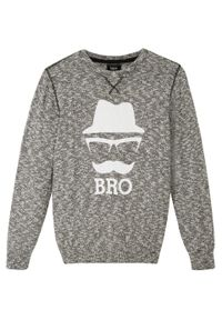 Czarny sweter bonprix melanż, elegancki