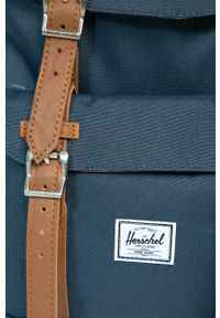 Herschel - Plecak. Kolor: niebieski. Wzór: paski