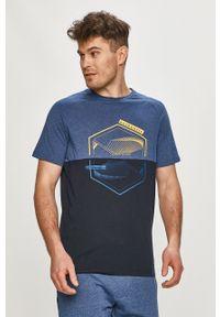 Niebieski t-shirt PRODUKT by Jack & Jones z nadrukiem, na co dzień, casualowy