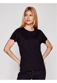 Samsoe & Samsoe - Samsøe Samsøe T-Shirt Solly Solid F00012050 Czarny Regular Fit. Kolor: czarny
