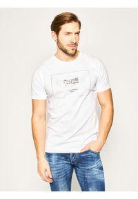 Biały t-shirt Cavalli Class