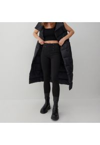 Reserved - Dzianinowe spodnie - Czarny. Kolor: czarny. Materiał: dzianina