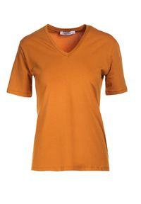 Brązowy t-shirt Born2be