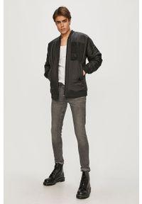 Czarna kurtka G-Star RAW gładkie, casualowa, na co dzień, bez kaptura