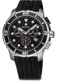 Zegarek Swiza Zegarek Tetis Chrono SST czarny (WAT.0463.1001). Kolor: czarny