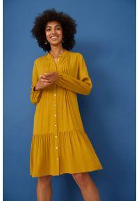 Greenpoint - Wiskozowa sukienka z obniżonym stanem. Materiał: wiskoza