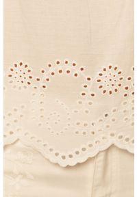 Biała bluzka Jacqueline de Yong na co dzień, z dekoltem typu hiszpanka, casualowa, krótka