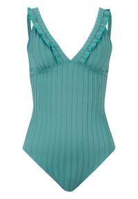 Zielony strój kąpielowy jednoczęściowy bonprix