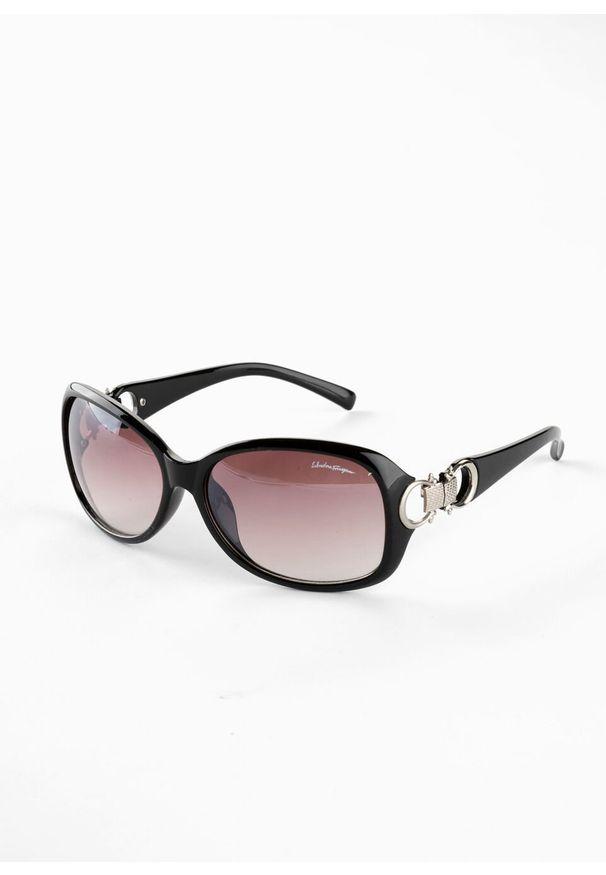 Okulary przeciwsłoneczne bonprix czarno-srebrny kolor