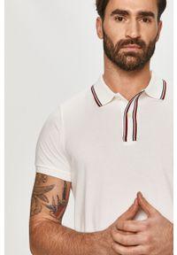 Biała koszulka polo TOMMY HILFIGER casualowa, krótka, polo, gładkie