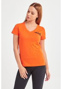 T-shirt Patrizia Pepe casualowy, na co dzień, w kolorowe wzory