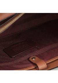 Brązowa torebka klasyczna Coach skórzana, klasyczna