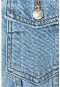 Niebieska kurtka Vero Moda na co dzień, casualowa, bez kaptura
