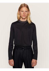 Czarna koszulka z długim rękawem BOSS