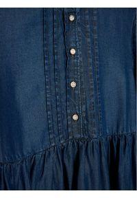 Mayoral Sukienka codzienna 4980 Granatowy Regular Fit. Okazja: na co dzień. Kolor: niebieski. Typ sukienki: proste. Styl: casual