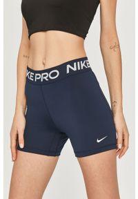 Niebieskie szorty Nike z nadrukiem, sportowe