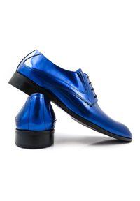 Niebieskie półbuty Faber klasyczne