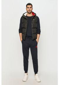 Czarna kamizelka Tommy Jeans casualowa, z kapturem, na co dzień