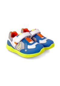 Niebieskie buty sportowe Biomecanics z cholewką, na rzepy, z okrągłym noskiem