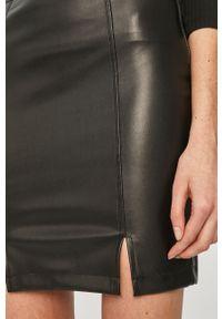 Czarna spódnica Answear Lab wakacyjna, z podwyższonym stanem, na co dzień