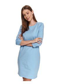 Niebieska sukienka TOP SECRET koszulowa
