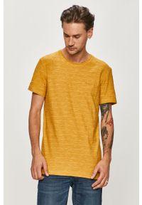 Żółty t-shirt Quiksilver casualowy, na co dzień