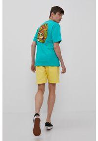 Element - T-shirt. Okazja: na co dzień. Kolor: turkusowy. Wzór: nadruk. Styl: casual