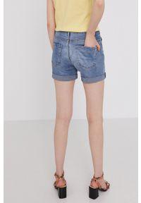 medicine - Medicine - Szorty jeansowe Denim. Kolor: niebieski. Materiał: denim, jeans. Wzór: gładki