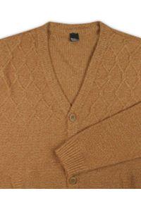 Lasota - Sweter Brązowy Elegancki Kardigan, Zapinany na Guziki -LASOTA- Męski. Okazja: na co dzień. Kolor: brązowy, wielokolorowy, beżowy. Materiał: bawełna, akryl. Styl: elegancki #3