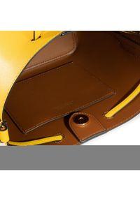 Żółta torebka worek Lauren Ralph Lauren casualowa