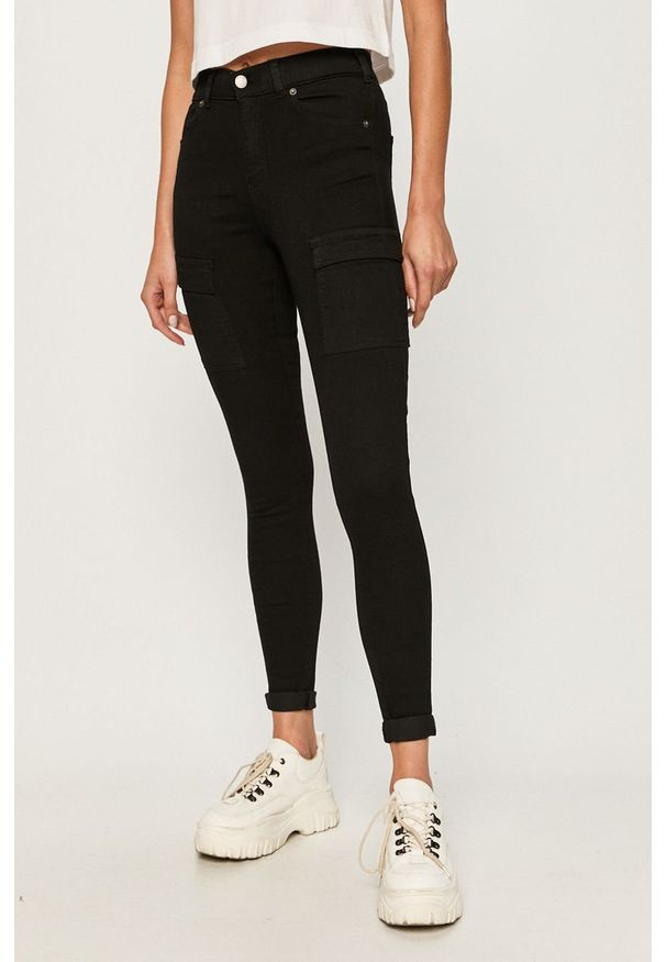 Czarne jeansy Dr. Denim w kolorowe wzory