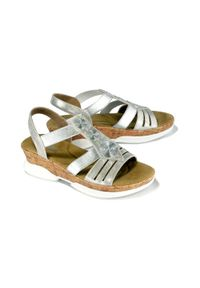 Srebrne sandały Rieker