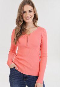 Pomarańczowy sweter Born2be