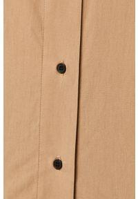 only - Only - Koszula. Okazja: na co dzień. Kolor: beżowy. Materiał: tkanina. Długość rękawa: długi rękaw. Długość: długie. Wzór: gładki. Styl: casual