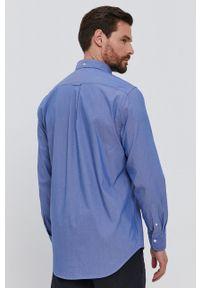 GANT - Gant - Koszula. Okazja: na co dzień. Typ kołnierza: button down. Kolor: niebieski. Materiał: tkanina. Długość rękawa: długi rękaw. Długość: długie. Wzór: gładki. Styl: casual