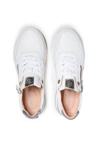 Białe sneakersy Salamander z cholewką, na płaskiej podeszwie