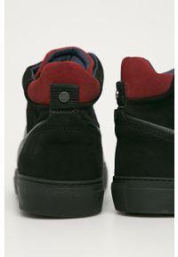 Czarne sneakersy GOE z cholewką, na sznurówki
