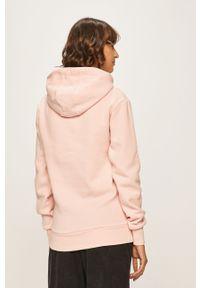 Różowa bluza Ellesse z nadrukiem, długa, z długim rękawem, casualowa