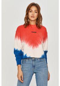 Różowa bluza Wrangler na co dzień, długa, z długim rękawem, bez kaptura
