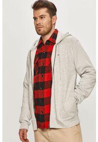 Szara bluza rozpinana Tommy Jeans na co dzień, z nadrukiem
