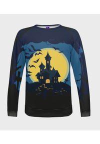MegaKoszulki - Bluza damska fullprint Spooky Mansion. Długość: długie. Styl: klasyczny