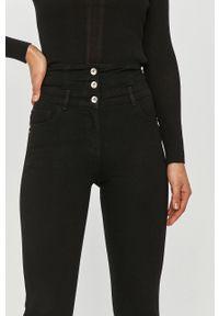 Czarne jeansy Patrizia Pepe z podwyższonym stanem, klasyczne