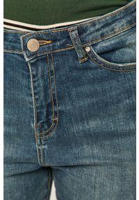 Niebieskie jeansy bootcut Brave Soul z podwyższonym stanem, w kolorowe wzory