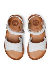 Gioseppo - Sandały GIOSEPPO - Malabar 59648 White. Zapięcie: pasek. Kolor: biały. Materiał: skóra. Wzór: paski. Sezon: lato. Styl: wakacyjny, młodzieżowy