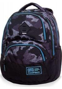 Patio Plecak szkolny Coolpack Cp Moro czarny. Kolor: czarny. Wzór: moro