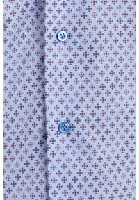Emanuel Berg - Koszula. Typ kołnierza: kołnierzyk włoski. Kolor: niebieski. Materiał: tkanina. Długość rękawa: długi rękaw. Długość: długie