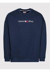 Tommy Jeans Bluza Tjm Seasonal Straight Logo DM0DM10914 Granatowy Regular Fit. Kolor: niebieski