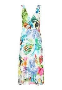 Desigual Sukienka letnia Seychelles 21SWMW42 Kolorowy Regular Fit. Wzór: kolorowy. Sezon: lato